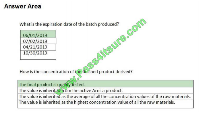 Pass4itsure Microsoft MB-320 exam questions q8-3