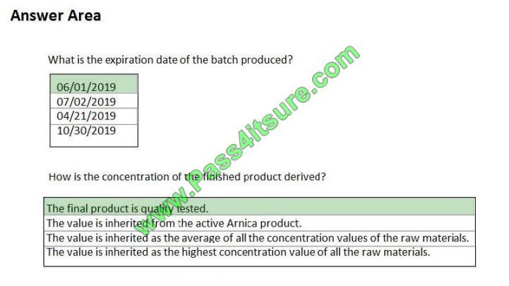 Pass4itsure Microsoft MB-320 exam questions q8-3